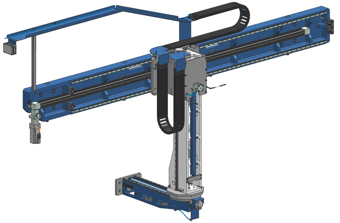 FLX190. SSEB Systems Transfersysteem FLX is een automatiseringssysteem voor nieuwe en bestaande, hydraulische persen. Met het systeem kunnen platines en halffabricaten automatisch ingelegd, doorgelegd en uitgehaald worden.