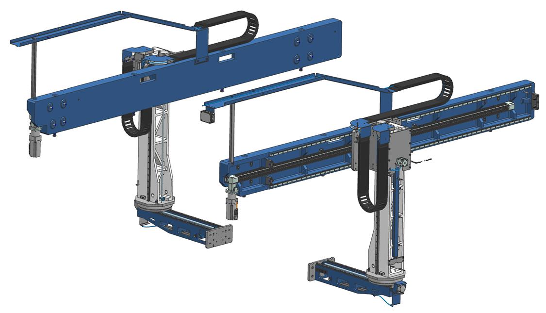 FLX190 Dubbel. SSEB Systems Transfersysteem FLX is een automatiseringssysteem voor nieuwe en bestaande, hydraulische persen. Met het systeem kunnen platines en halffabricaten automatisch ingelegd, doorgelegd en uitgehaald worden.