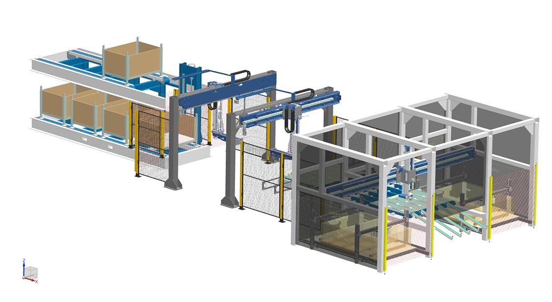 SSEB Systems FLX190 destacker positionering palletwisselaar. FLX190. FLX Transfer System. SSEB Systems Transfersysteem FLX is een automatiseringssysteem voor nieuwe en bestaande, hydraulische persen en 3D lasersnijmachines. Met het systeem kunnen platines en halffabricaten automatisch ingelegd, doorgelegd en uitgehaald worden.